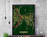 MG global - OSORNO Chile Landkarte Poster Farbe Heimatstadt