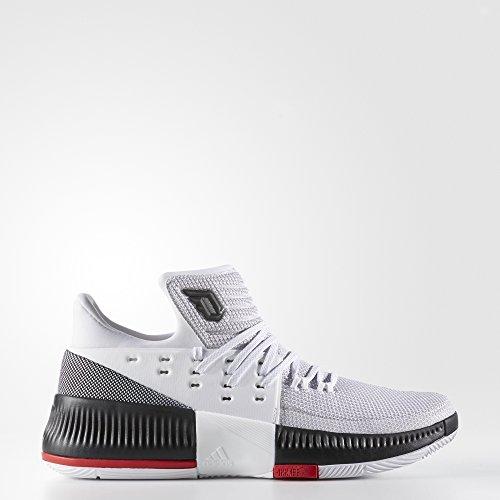 adidas D Lillard 3Herren Basketball Schuhe, Weiß–(Ftwbla/Negbas/Escarl) 522/3