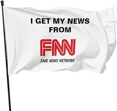 fenrris65 Garden Flag Sign Outdoor Party Indoor Banner Waterproof Courtyard Fence Lawn Fun and Novel 5 * 3FT,Fake News I Get My News from FNN Flag Banner Flags
