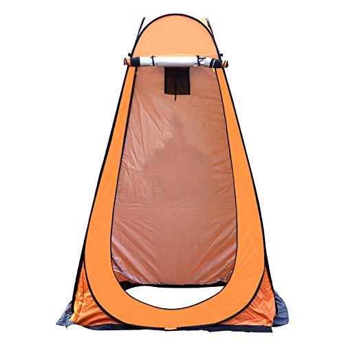 BaBa Tienda de Campaña Tent Portable Pop Up Tiendas Instantáneas Carpas Vestidor Vestuario Espacioso para Camping Playa Bosques Zonas de Aseo Carpas (Naranja)