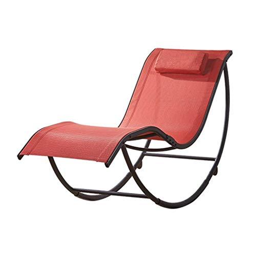 WYJW Relax schommelstoel zonneligstoel verstelbare ligstoel voor binnen en buiten ligstoel tuin beach, inklapbare zwaartekracht-ligstoel met kussen