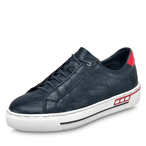Rieker Damen Frühjahr/Sommer L8834 Slip On Sneaker, Blau (Pazifik/Rosso/ 14 14), 39 EU