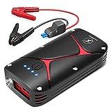 Batteria per Auto avviamento di Emergenza, FLYLINKTECH 1000A (Fino a 5,0 Gas o Motore Diesel 3,0) 15000 mAh Batteria Portatile ad Alta capacità da 12 V con Cavo Smart Jumper e Adattatore EC5