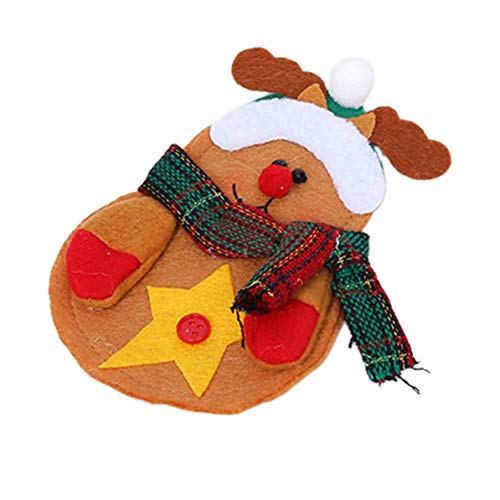 Preisvergleich Produktbild Sunnyflowk Weihnachten Tischdekoration Verdickung Santa Schneemann Messer Und Gabel Set Kreative Heimat Schneemann Besteckbeutel (Multicolor (Deer Besteckbeutel))