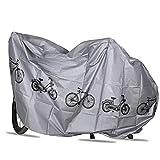 自転車カバー サイクルカバー 防風 防水 防塵 UVカット耐熱 バイク自転車用 カバー 28インチまで対応 200*100cm 電動自転車/ロードバイク/マウンテンバイク適用 (シルバー)
