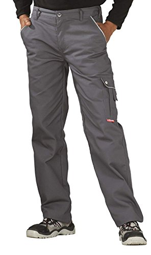 2143 Planam Thermohose Canvas 320 grau (102, grau)