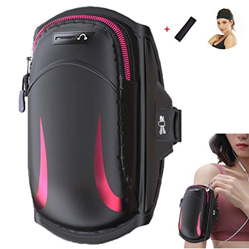 Fitness Brassard Sport Porte Monnaie Pochette Sac Téléphone Portable pour smartphone jusqu'à 6.5 Pouces, Compatible avec Iphone 6s 7 8 XS X plus, Samsung Galaxy S7 S8 S9, Edge, Note 8, Pixel 2, Huawei