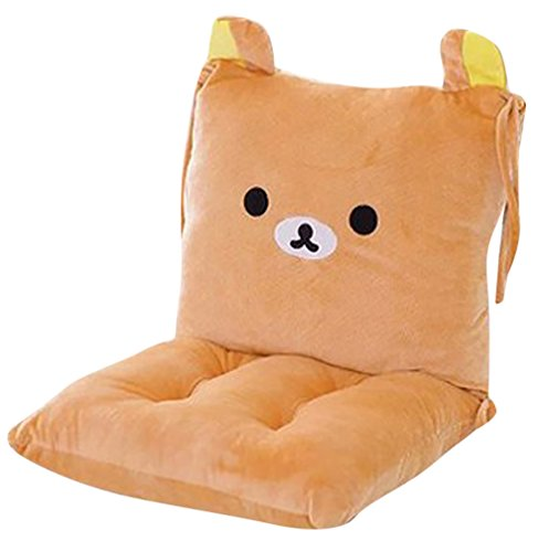 ChezMax Joint Detachable Rocking Chair Seat Back Cushion Set with Ties for Kid Children Boy Girl Bed Play Room Cartoon Bear