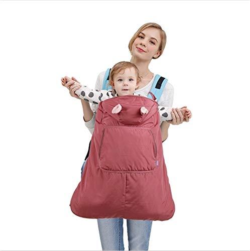 ZHSGV Best Baby Warm Baby Carrier Abrigo Hipseat Cover Cape Cloak Infantil Mochila Mochila Sling Wrap Funda de Manto Impermeable para el otoño Invierno (Color : Red)