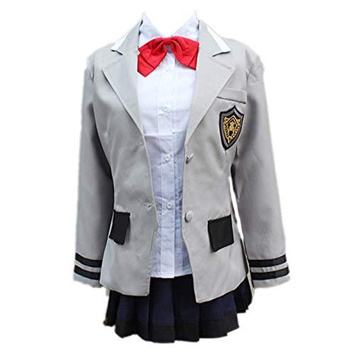 Charous Disfraz de Cosplay de Anime Tokyo Ghoul, Conjunto de Falda Escolar Touka Kirishima Utilizado para Cosplay de Festival o Regalo para Amantes del Anime