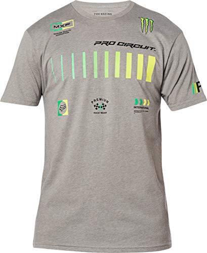 Fox Racing Men's PRO Circuit Shirt T, mélange Grafite, M Uomo