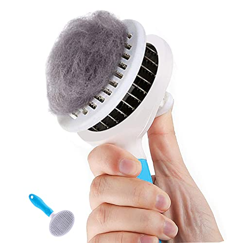 Cat Brush, Self Cleaning Slicker Brushes for Shedding and Grooming Removes Loose Undercoat, Mats and Tangled Hair Grooming Comb for Cats Dogs Brush...