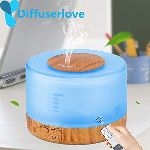 Lanlan Diffuserlove Humidificador de 500 ml Control remoto Difusor de aceites esenciales Humidificador de niebla fría EU AU UK US Humidificador de aire de enchufe, Blanco, Reino Unido, AU
