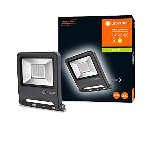 LEDVANCE Projecteur à LED, luminaire pour applications extérieures, blanc chaud, 226,0 mm x 201,0 mm x 37,0 mm, ENDURA FLOOD