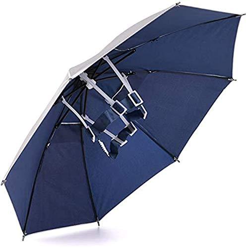 Regenschirm Hut Faltbarer Kopf Regenschirm 26 '' UV-Schutz Regenschirmkappe Outdoor-Kopfbedeckung Angeln, Radfahren, Gartenarbeit