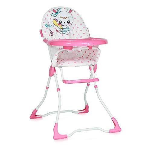 Lorelli 10100321822 Chaise Haute pour Bébé Marcel Rose