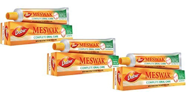歯科医ガイドラインキャプテンブライDabur Meswak Toothpaste Complete Oral Care - 100g (Pack of 3) [並行輸入品]