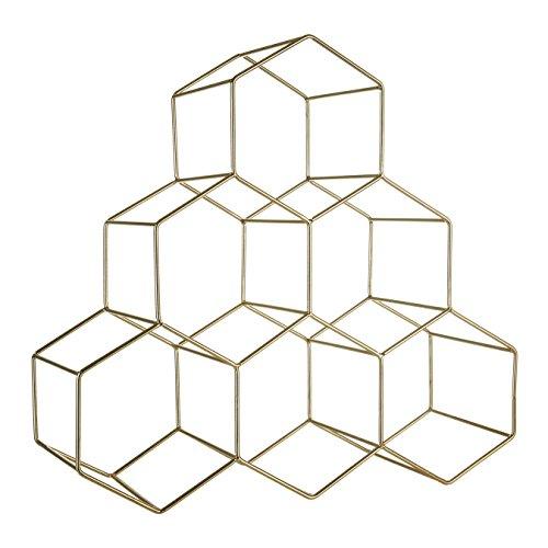 Premier Housewares Vertex - Figura Decorativa, diseño de vértice, Color Dorado, Metal, Dorado, 15 x 38 x 36.5 cm