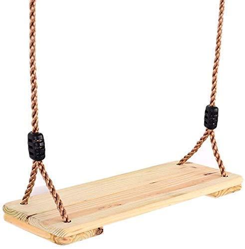 Pliers Barras de pullamiento Columpios de árboles de Madera para Adultos Adultos, 18'x 7' Asiento de Swing clásico con una Cuerda de PE Ajustable de 90'de Longitud para Patio de recreo hogar