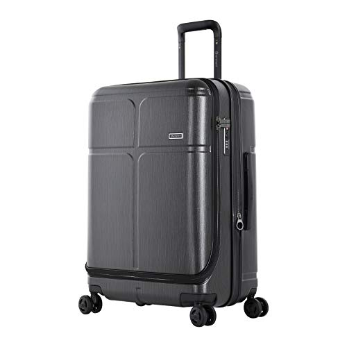 Eminent Suitcase Load 68 cm 85 L Expandable Secure Zippers 4 Double Silent Wheels Graphite