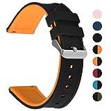 Fullmosa Silikon Uhrenarmband 22mm mit Schnellverschluss in 8 Farben, Regenbogen Weich Silikon...
