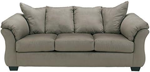 Best Signature Design by Ashley - Darcy Contemporary Microfiber Sofa, Cobblestone