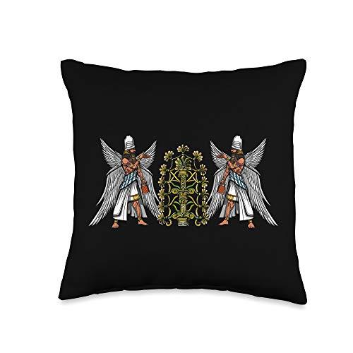 Alien Anunnaki Sumerian Mythology Clothing Anunnaki Alien Gods Ancient Sumerian Civilization Mythology Throw Pillow, 16x16, Multicolor
