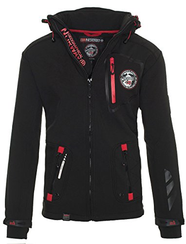 81Y4 Geographical Norway Tacebook Herren Softshell Schwarz Gr. 3XL