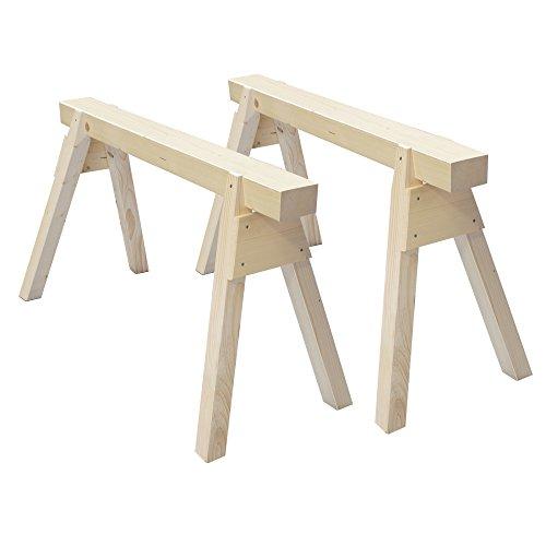2 Stück Holzböcke aus Massivholz Länge 120 cm
