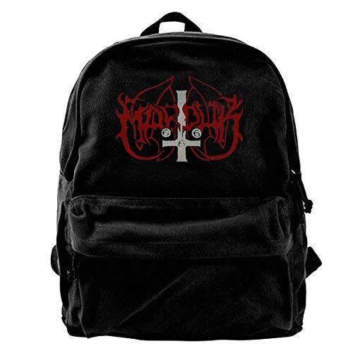 Marduk 666 - Mochila de Lona Unisex, Color Negro