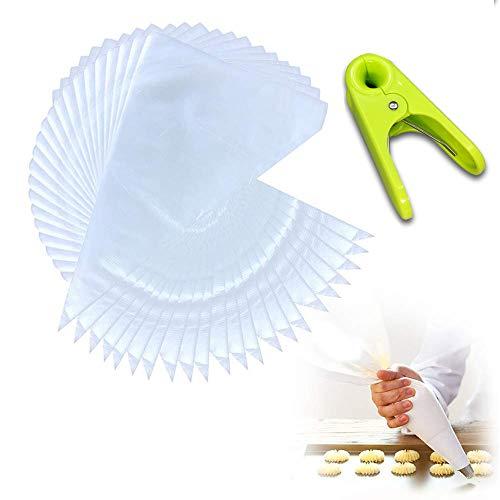 100 Pcs manga pastelera ,Bolsas de Pastelería desechable de plástico para decoración de repostería