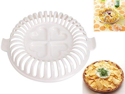 Dreamworldeu Mikrowelle Kartoffelchips Maker Set Ölfreie Kalorienarme Gesunde Mikrowelle Gerät DIY Backen Werkzeug