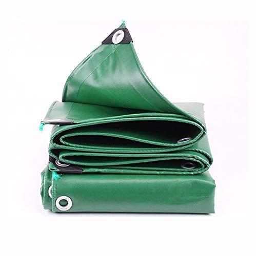 ZHANGYUQI Lona Resistente, Lona plástica Impermeable de Polietileno con Ojales de Metal, Borde de Refuerzo, para Techo, Camping, Exterior, Patio(Color:Verde,Size:2x3m)