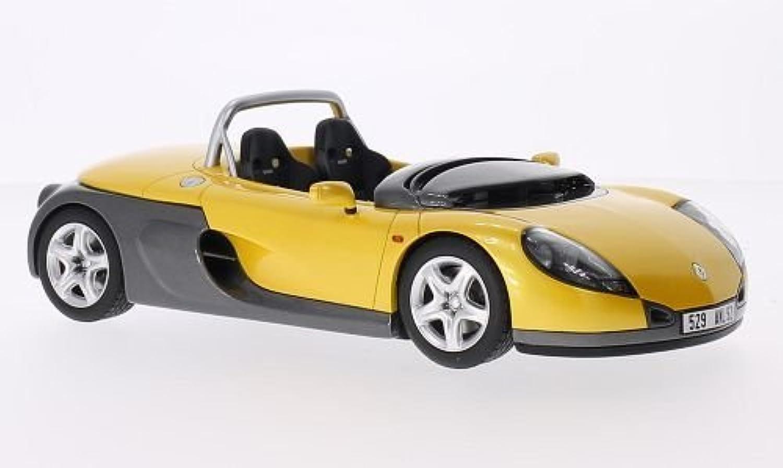nueva gama alta exclusiva Renault deportes Spider, metálico-amarillo metálico-gris, 1996, Modelo de de de Auto, modello completo, Ottomobile 1 18  deportes calientes