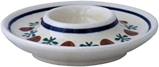 Bauernkeramik Original Bunzlauer Keramik Eierbecher hoch im Dekor ZIELON