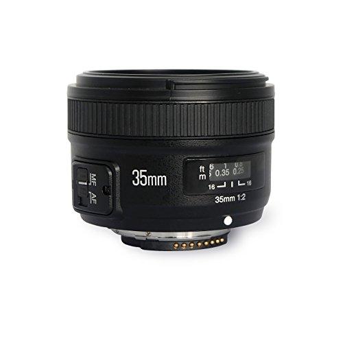 YONGNUO YN35mm 35mm F2.0 Standard Prime Lens Large Aperture Auto Focus for Nikon D7500 D7200 D7100 D5600 D5300 D5200 D3300 D3200 D750 DSLR Camera