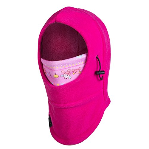 Zerdocean Kids Winter Thick Thermal Cycling Ski Windproof Balaclava Rose Red, Rose Red, Small