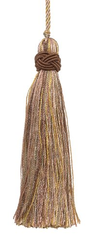 Set of 10 Decorative Lt Olive Green, Lt Gold 10cm Tassel, Imperial II Collection Style# ITS Color: WINTER PRAIRIE - 2935