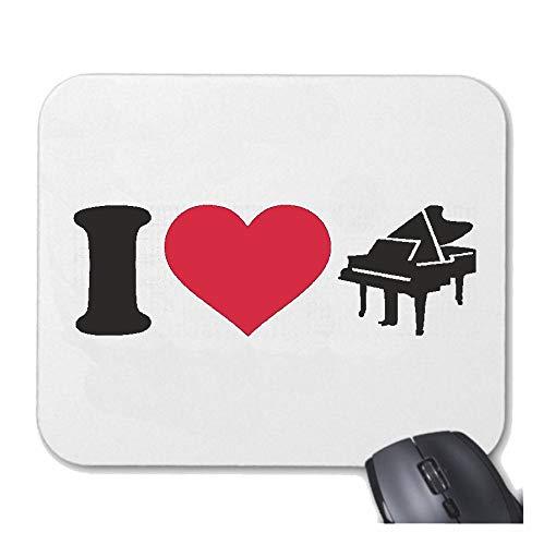 Helene Mousepad Mauspad I Love Klavier - Piano - KLAVIERUNTERRICHT - PIANOUNTERRICHT - Piano Spielen für ihren Laptop, Notebook oder Internet PC mit Windows