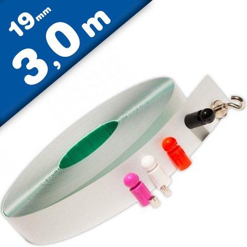 Metallband/Stahlband selbstklebend weiß - Wandleiste - 19mm x 3m - Magnethaftleiste, Magnetband, Magnetleisten, Stahlband, Ferroband, Eisenband
