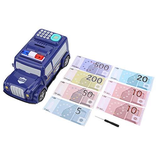 PBOHUZ Caja de Dinero para camión de Efectivo-Caja de Dinero para camión de Efectivo Contraseña de Huella Digital Caja de Ahorro de Monedas electrónicas para niños