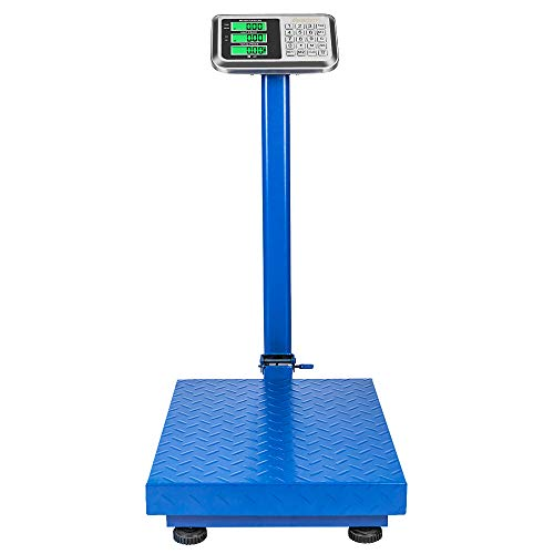 SSLine 660LBS Industrial Platform Scale Folding Eletronic Postal Scale Heavy Duty Digital Bench Scale with Large Platform/LCD Display Big Scale for Luggage Shipping Package Computing