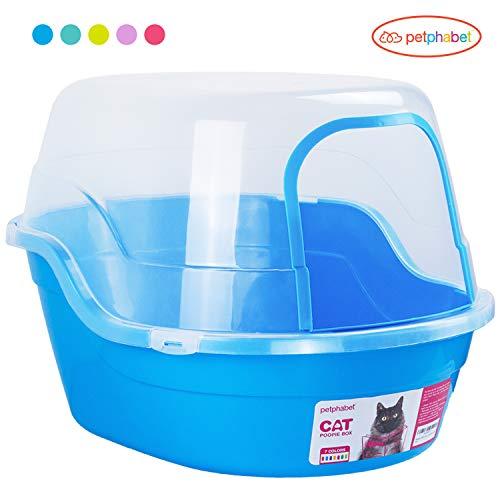 große Katzentoilette mit Abdeckung katzentoilette xxl jumbo hooded katzenklo mit deckel für große Katzenrassen Blau 63x48x43