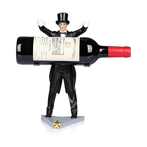 Portabottiglie Portabottiglie per Vino Mago Europeo Portabottiglie Decorazione Cucina di casa Ristorante Espositore per Vino Espositore da appoggio Cantina Scaffale per Vino