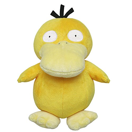 Sanei Pokemon All Star Series Psyduck Stuffed Plush, 7