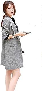 Happy snowflakes テーラードジャケット レディース ジャケット ロング丈 ウェア 春秋アウター コート 上品 フォーマル 入学式 卒業式  出勤 長袖