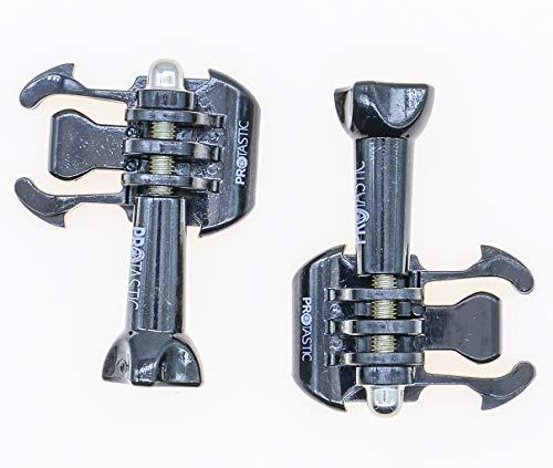 PROtastic 2x hebillas de desenganche rapido y tornillos de fijacion, para camaras de accion Gopro Hero y SJCAM, para casco de montanismo, ciclismo, etc.