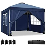 YUEBO Carpas Plegables, Carpa 3x3 m con 4 Laterales Cenador Plegable Impermeable Pop Up Gazebo Carpas para Exteriores, Jardin, Terraza, Camping