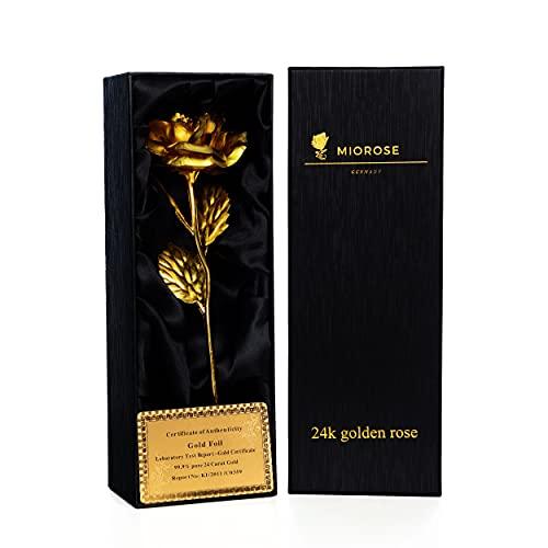 24k gouden roos, eeuwige roos, handgemaakt, verguld, geconserveerde rozenbloem – met geschenkdoos en certificaat van…