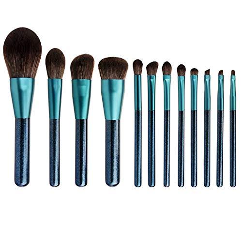 LHY- Lot de 12 pinceaux de maquillage - Poils souples - Poudre douce - Fard à paupières - Ensemble professionnel tendance